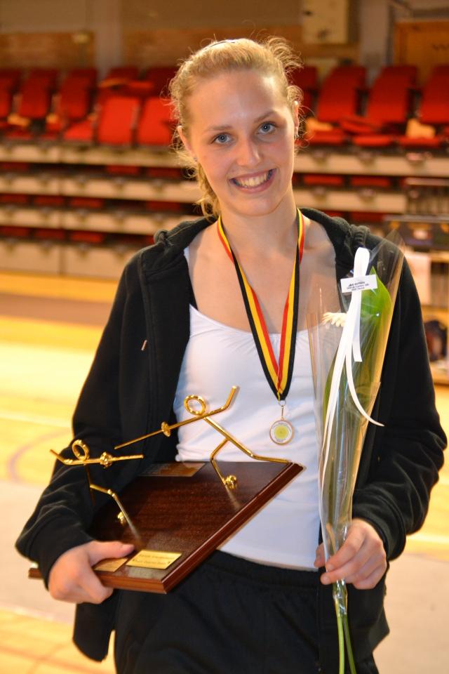 Een kersvers Belgisch Kampioene